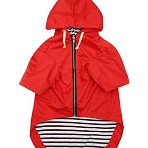 🐶2/$25 Red Dog raincoat with hood size Medium